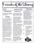 Friends of the Library Newsletter, June 1999