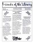 Friends of the Library Newsletter, December 1999