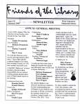 Friends of the Library Newsletter, February 2000