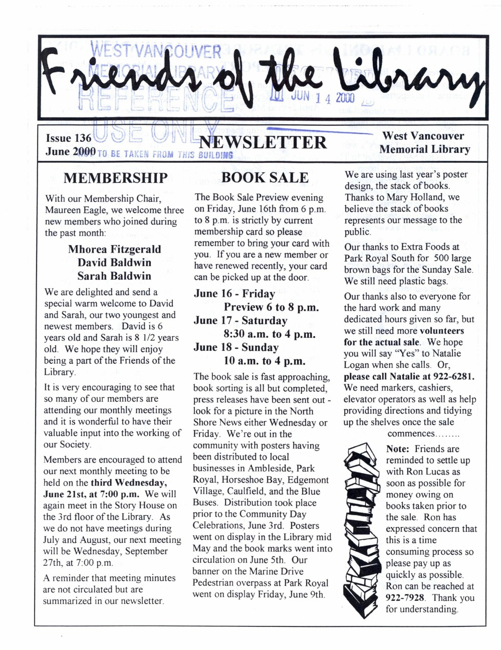 Friends of the Library Newsletter, June 2000