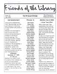 Friends of the Library Newsletter, July 2000