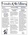 Friends of the Library Newsletter, March 2001