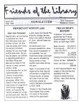 Friends of the Library Newsletter, 1 May 2001