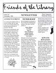 Friends of the Library Newsletter, November 2001