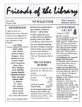 Friends of the Library Newsletter, March 2002
