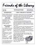 Friends of the Library Newsletter, 1 Jun 2002