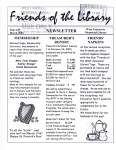 Friends of the Library Newsletter, March 2003