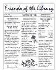 Friends of the Library Newsletter, October 2003