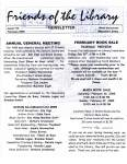 Friends of the Library Newsletter, February 2005