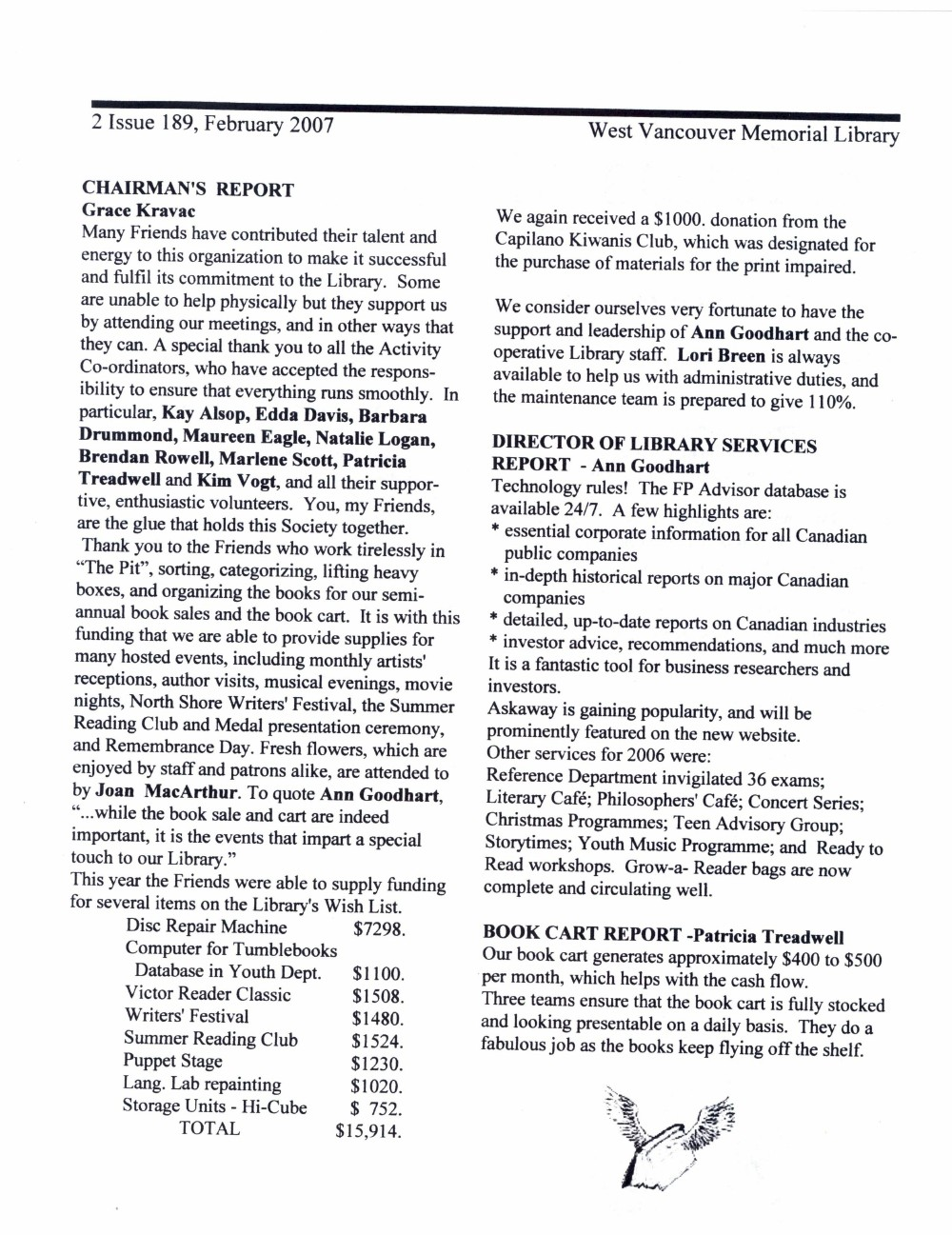 Friends of the Library Newsletter, February 2007