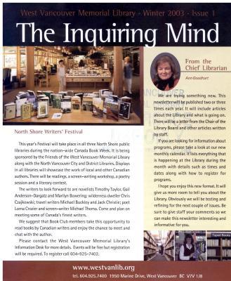 Inquiring Mind, Winter 2003