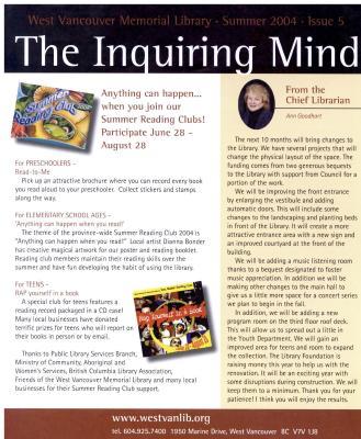 Inquiring Mind, Summer 2004