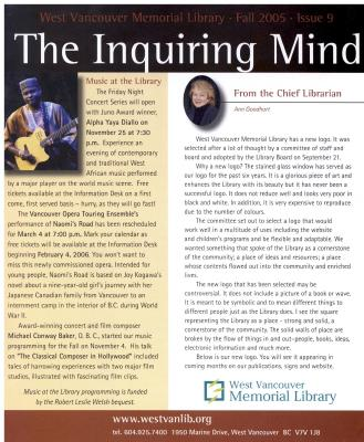 Inquiring Mind, Fall 2005