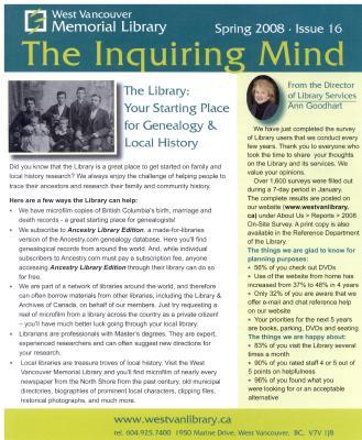 Inquiring Mind, Spring 2008