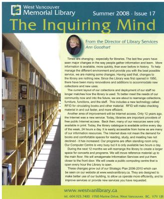 Inquiring Mind, Summer 2008