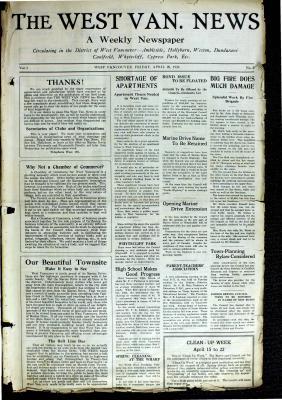 West Van. News (West Vancouver), 16 Apr 1926