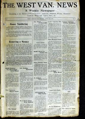 West Van. News (West Vancouver), 23 Apr 1926