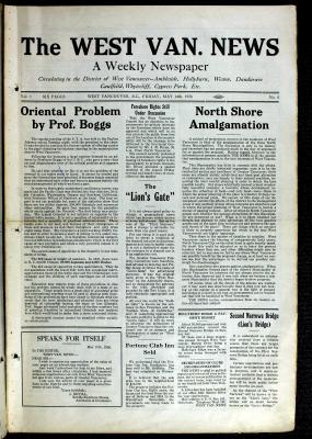 West Van. News (West Vancouver), 14 May 1926