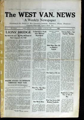 West Van. News (West Vancouver), 4 Jun 1926