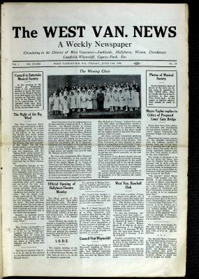 West Van. News (West Vancouver), 11 Jun 1926