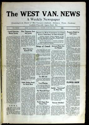 West Van. News (West Vancouver), 25 Jun 1926