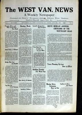 West Van. News (West Vancouver), 30 Jul 1926