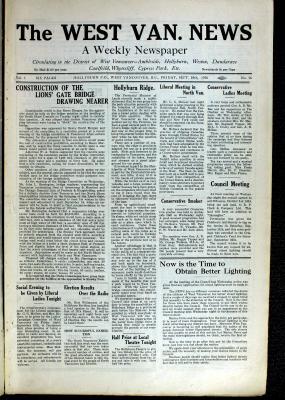 West Van. News (West Vancouver), 10 Sep 1926