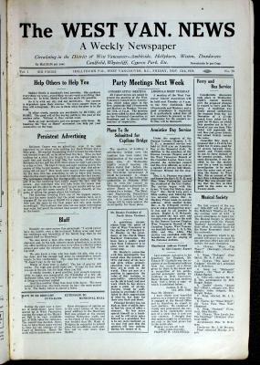 West Van. News (West Vancouver), 12 Nov 1926