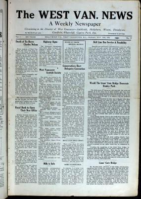 West Van. News (West Vancouver), 19 Nov 1926