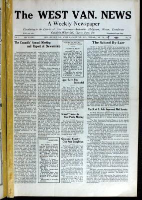West Van. News (West Vancouver), 7 Jan 1927