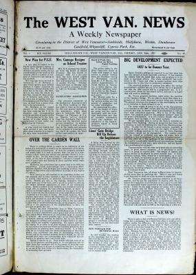 West Van. News (West Vancouver), 28 Jan 1927