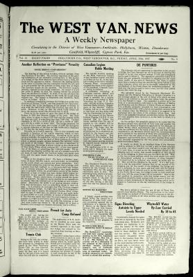 West Van. News (West Vancouver), 29 Apr 1927