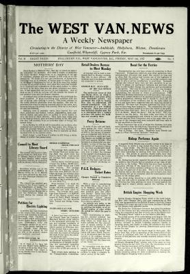 West Van. News (West Vancouver), 6 May 1927