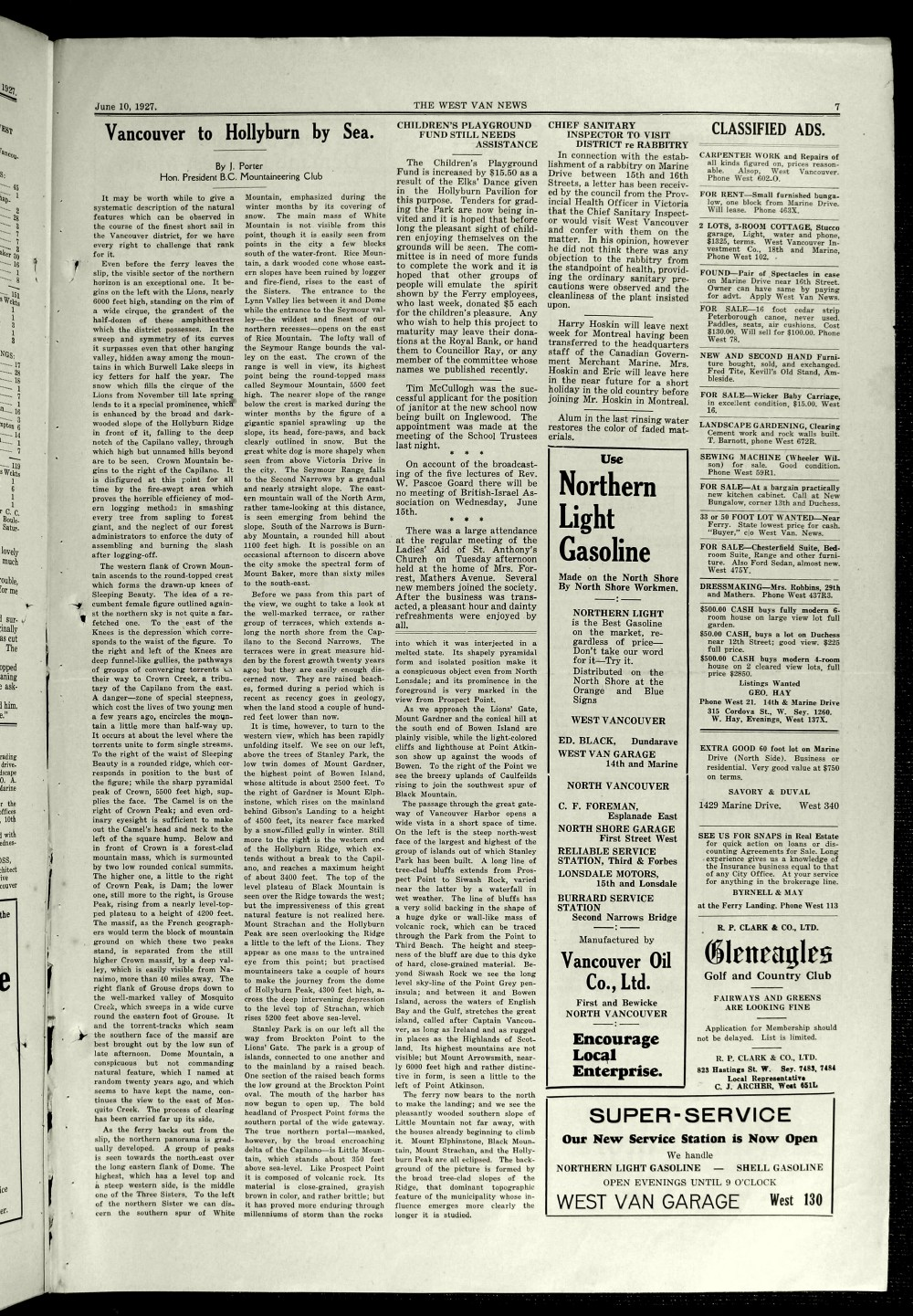 West Van. News (West Vancouver), 10 Jun 1927