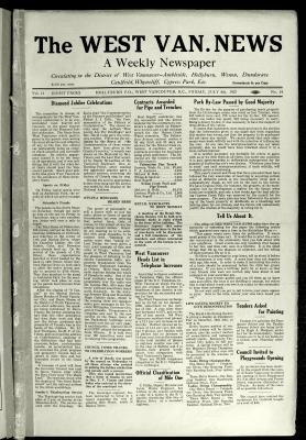West Van. News (West Vancouver), 8 Jul 1927