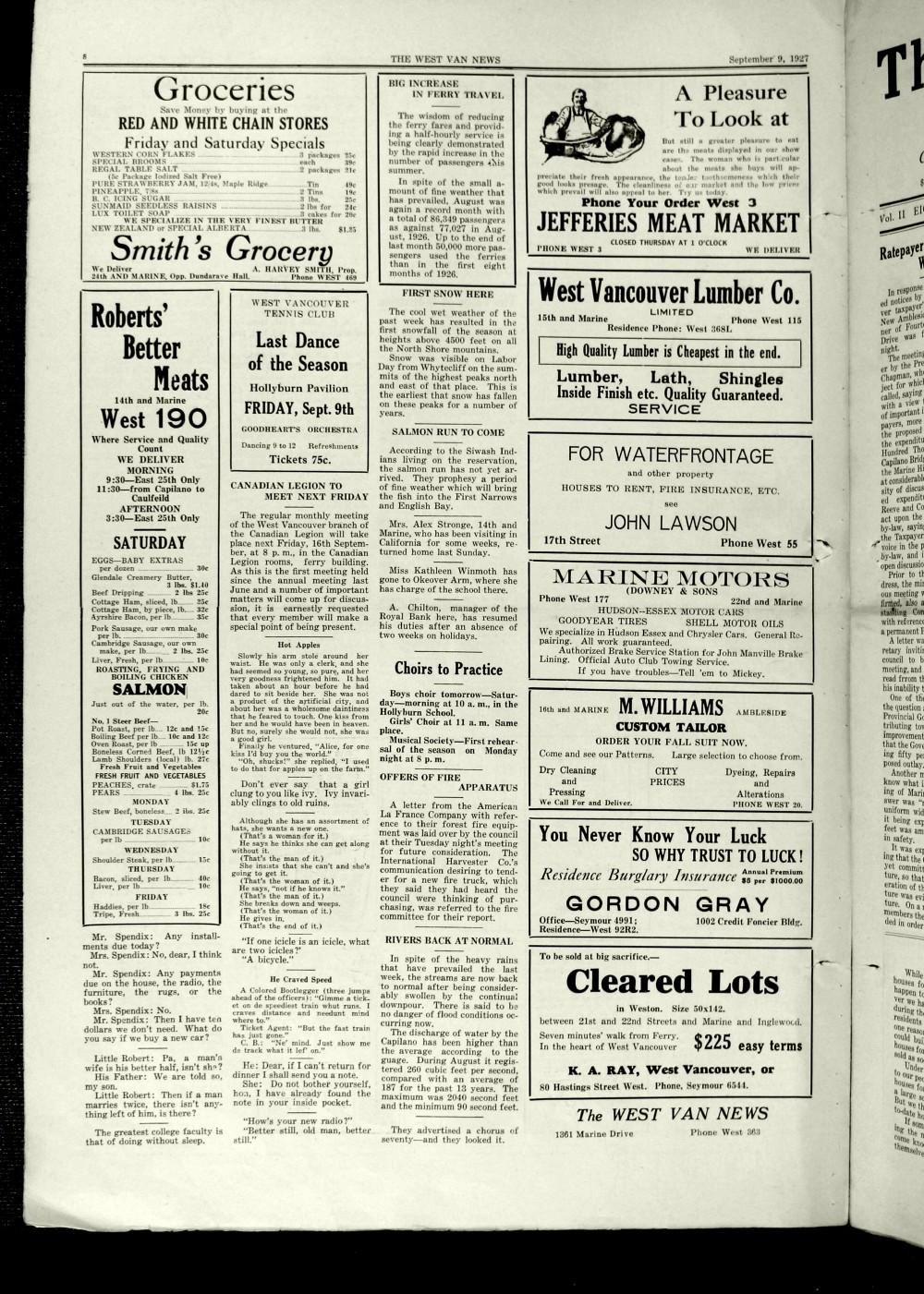 West Van. News (West Vancouver), 9 Sep 1927