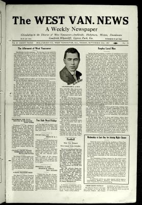 West Van. News (West Vancouver), 23 Sep 1927