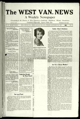 West Van. News (West Vancouver), 7 Oct 1927