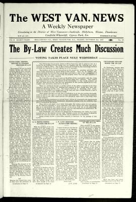 West Van. News (West Vancouver), 21 Oct 1927