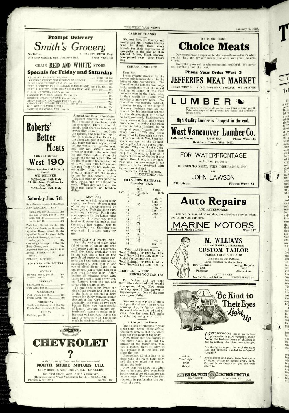 West Van. News (West Vancouver), 6 Jan 1928