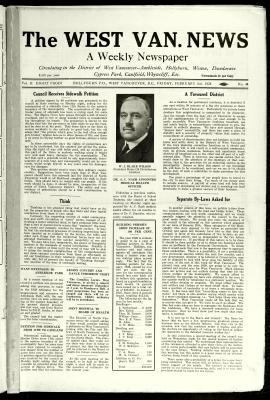 West Van. News (West Vancouver), 3 Feb 1928