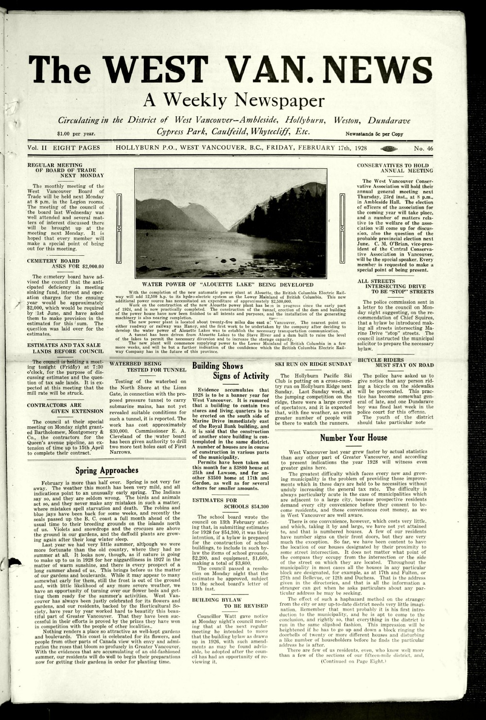 West Van. News (West Vancouver), 17 Feb 1928