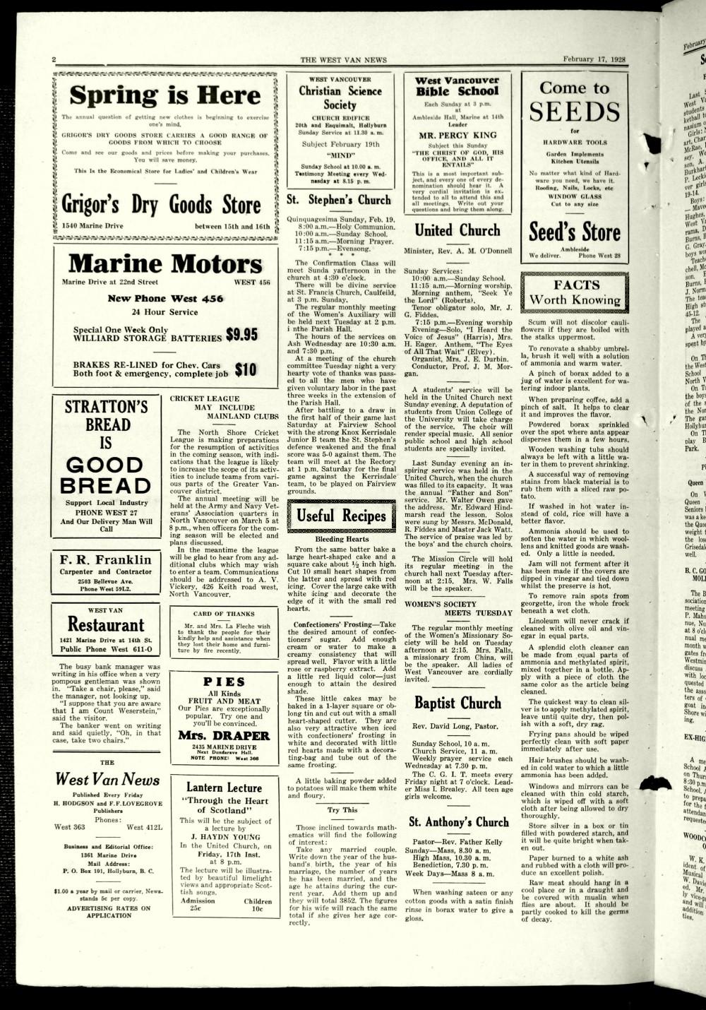 West Van. News (West Vancouver), 17 Feb 1928
