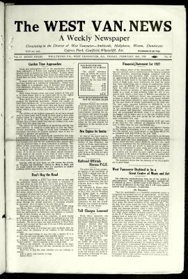 West Van. News (West Vancouver), 24 Feb 1928