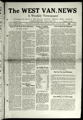 West Van. News (West Vancouver), 29 Jul 1927