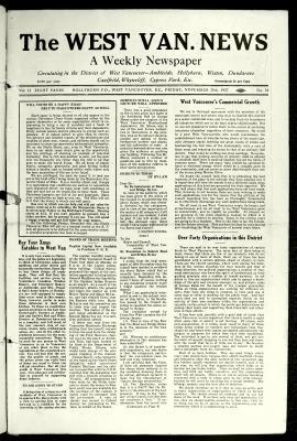 West Van. News (West Vancouver), 25 Nov 1927
