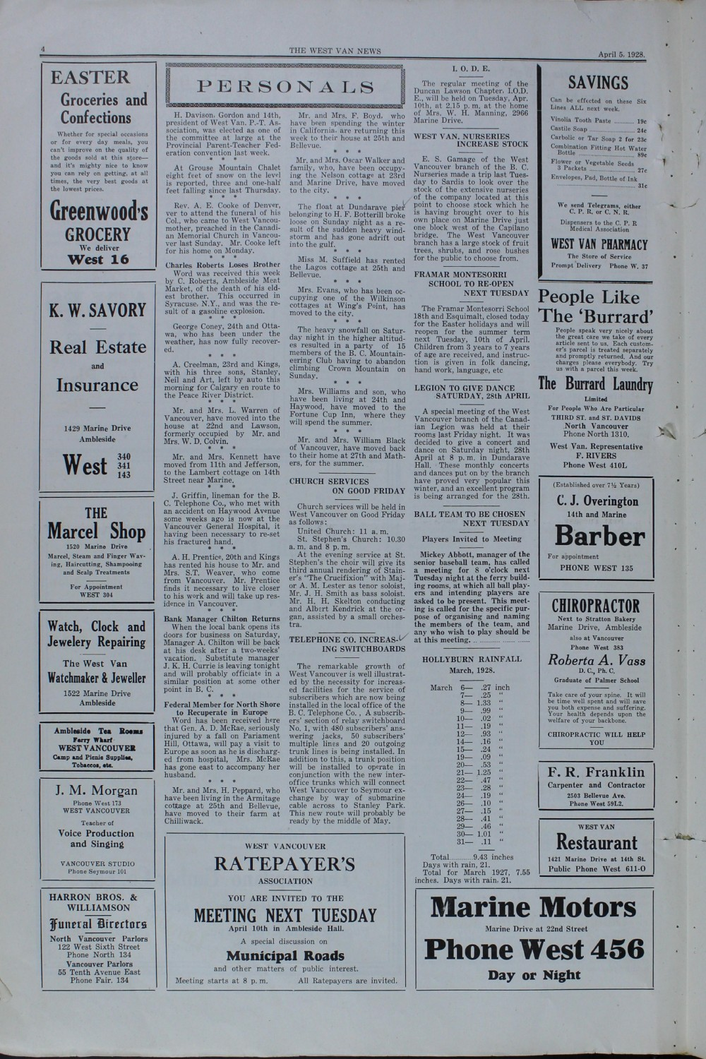 West Van. News (West Vancouver), 5 Apr 1928