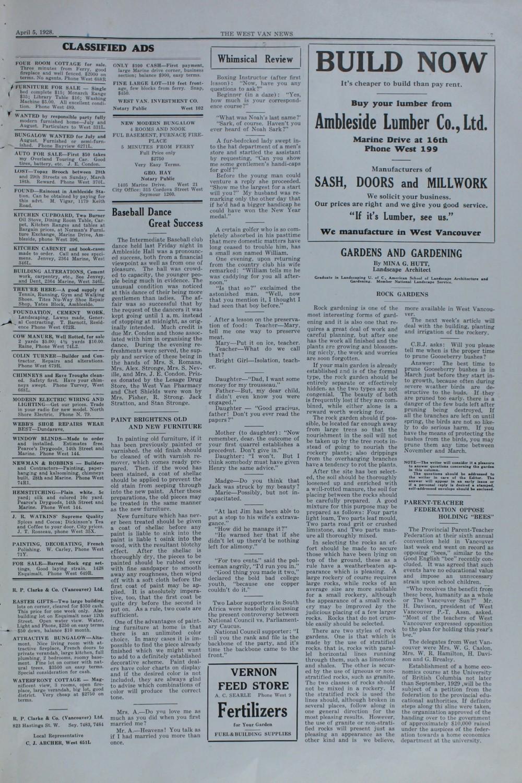 West Van. News (West Vancouver), 5 Apr 1928