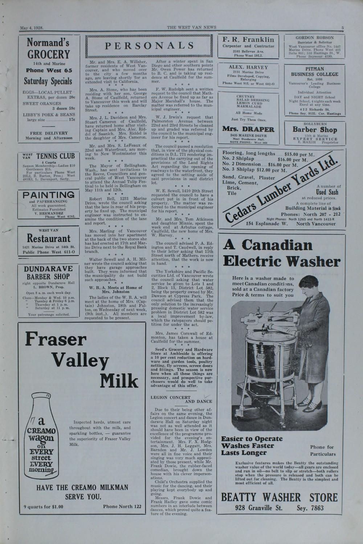 West Van. News (West Vancouver), 4 May 1928