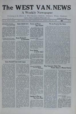 West Van. News (West Vancouver), 18 May 1928